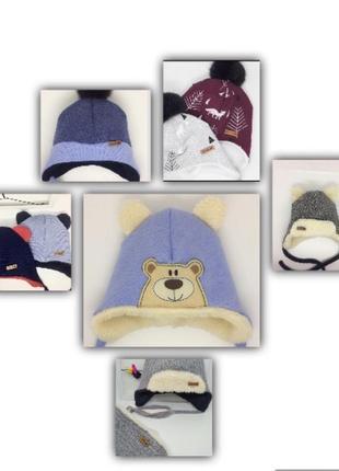 Зимние шапки, хомутики