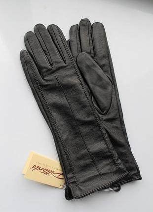 Женские кожаные удлинённые перчатки