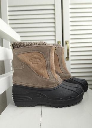 Ботинки/ сноубутсы натуральный замш