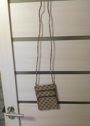 Сумочка , кошелёк,  кросбоди gucci. сумка через плечо
