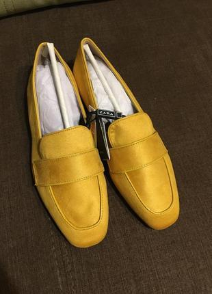 Пролёт! новые туфли zara 36-35размер , маломерят. балетки , эспадрильи