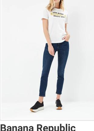 Фирменные зауженные джинсы скинни американского бренда banana republic 26/2(m-s)