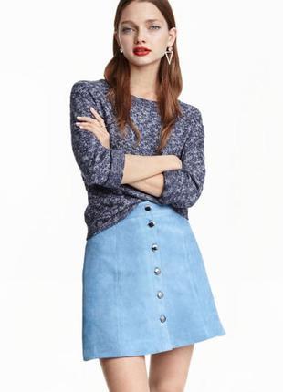Короткая юбка-трапеция h&m