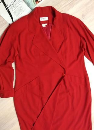 Стильное брендовое платье миди красное