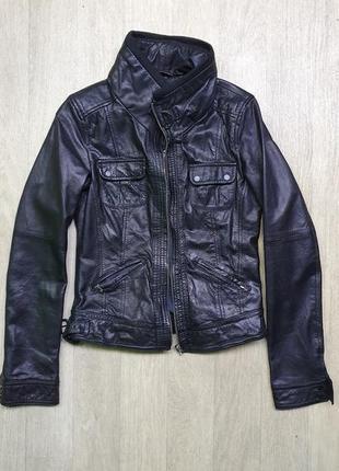 Кожаная куртка-косуха bershka s