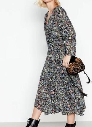 Шифоновое платье, асимметричное, длинное,миди из вискозы debenhams