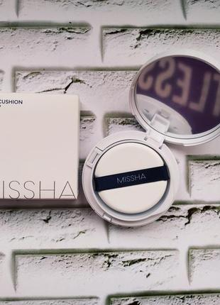 Кушон missha m magic cushion moist up тональный6 фото