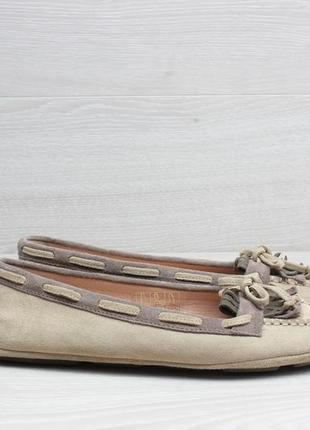 Замшевые женские мокасины geox оригинал, размер 36.5 (балетки, туфли)