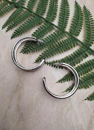 Сережки / кільця / кольца / срібні / серебряные / серьги / тренд / большие