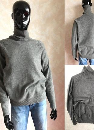 Кашемировый свитерок гольф в идеале л или оверсайз