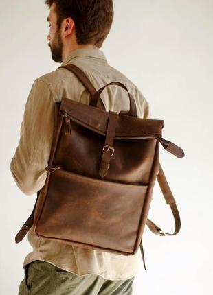 Стильный мужской рюкзак с карманом спереди на молнии оригинальный подарок парню