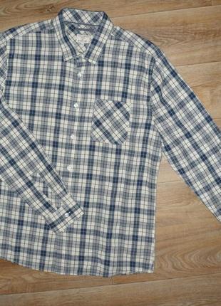Новая фирменная рубашка в клетку l
