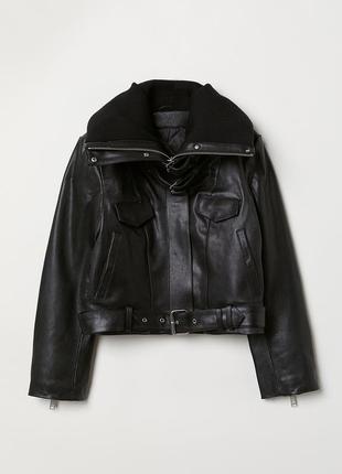 Куртка кожаная h&m studio