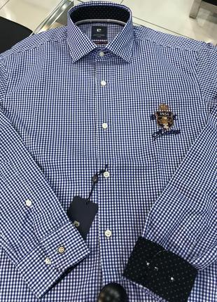 Мужская рубашка в клетку от pierre cardin, размеры s, 3xl
