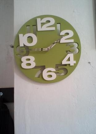 Настенные часы 3d зеленые
