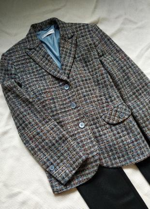 Теплый шерстяной жакет, пиджак букле