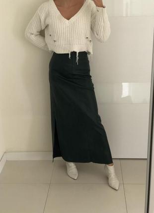 Кожаная юбка atos lombardini