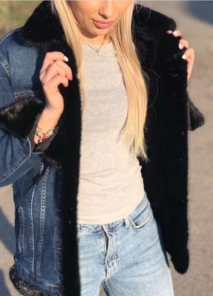 Джинсовые тёплые куртки , xs-xl