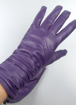Кожаные перчатки atmosphere на утеплителе