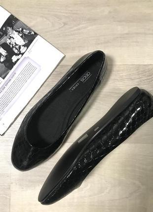 Стильные лакированные балетки туфли asos. zara mango