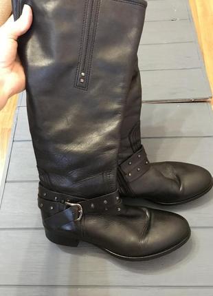 Женские кожаные сапоги 40-41 размер демисезонные