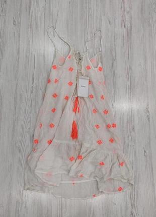 👑♥️final sale 2019 ♥️👑  летнее легкое вискозное платье мини с вышивкой