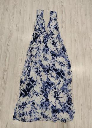 👑♥️final sale 2019 ♥️👑  бело синее платье макси на лето  море пляж