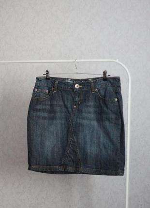 Джинсовая юбка джинс мини