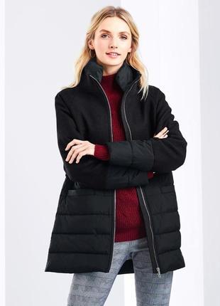 Шикарное теплое стеганное пальто с шерстью р.евро 38 s м от tchibo германия