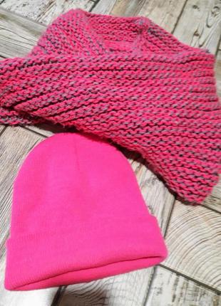Набор шапка+шарф-хомут