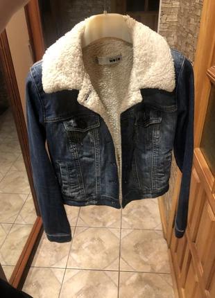 Джинсовая курточка top shop