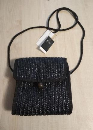 Женская пляжная, плетёная сумка f &f новая