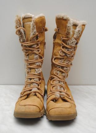 Женские зимние ботинки skechers,женские сапоги