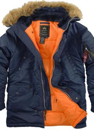 Куртка alpha industries slim fit n-3b parka.