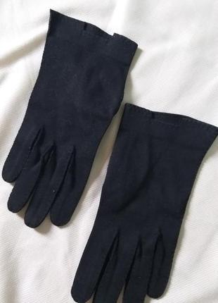 Изящные черные перчатки размер s