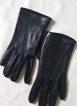 Кожаные комбинированные перчатки размер xs