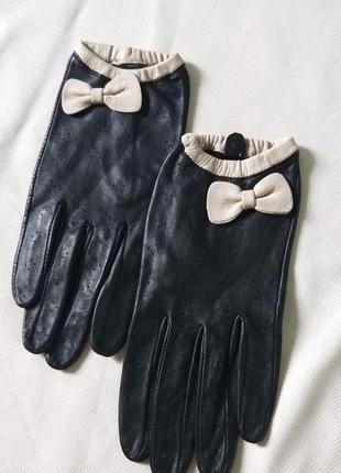 Кожаные перчатки new look размер xs
