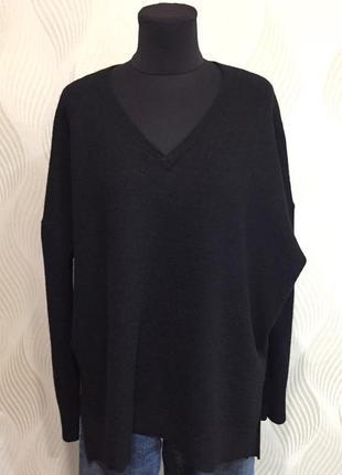 Шерстяной оверсайз свитер из валяной шерсти american vintage