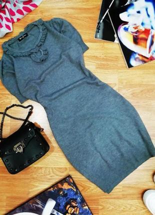Женское комфортное вязаное шерстяное платье секси - размер 44