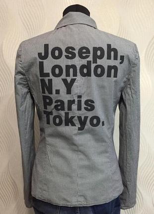 Жакет пиджак с надписью на спине joseph