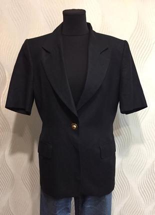 Льняной жакет пиджак коротким рукавом marella max mara
