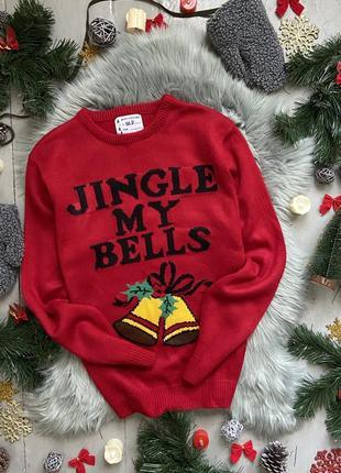 Новогодний рождественский свитер джемпер jingle my bells #25