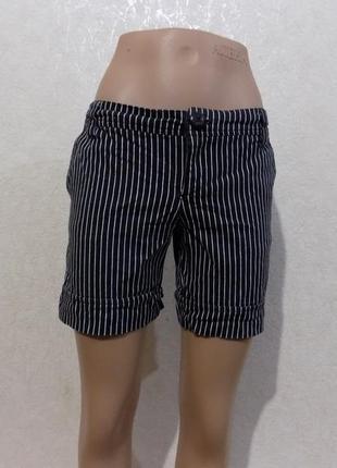 Шорты, коттоновые, черные, плотные, оригинал bershka, размер 42-44