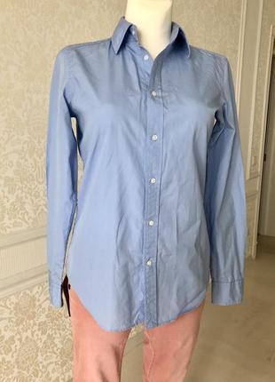 Рубашка голубая ralph louren м