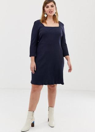 Glamorous curve темно-синя класична сукня