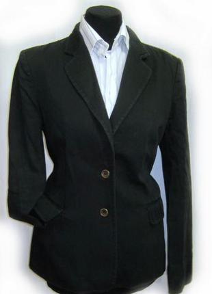 Черный приталеный пиджак р 10 коллекционный