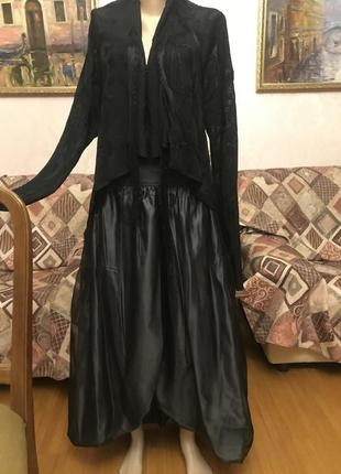 Нарядный костюм, комплект юбка+кардиган roberto cavalli италия оригинал