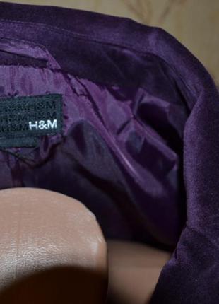 Пиджак велюр р.xs h&m шикарный2
