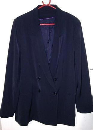 Строгий,стильный,двубортный,пиджак-жакет-блейзер для деловой девушки,бол.20-22 размера,f&f