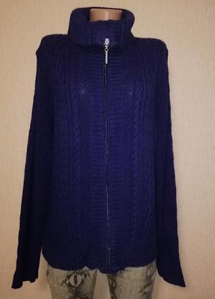🔥🔥🔥вязаная женская кофта батального размера на молнии, джемпер, свитер maine🔥🔥🔥